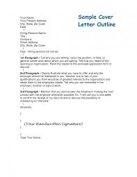 Lofty Cover Letter Outline 5 Outlines Cv Resume Ideas