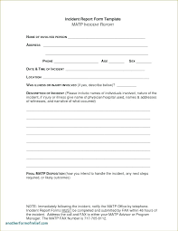 Basic Incident Report Template Ohs Incident Report Template Free Example Form Doc Employee Simple