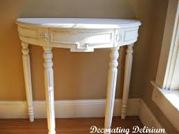 small demilune hall table. Beautiful Hand Carved White Demilune Console Table Small Hall