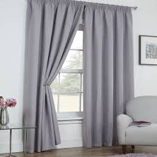linen look textured thermal blackout tape top curtains silver grey