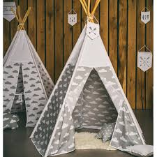 Tarp Teepee Design Us 94 83 Grey Cloud Design Kids Play Tent Indian Teepee Children Playhouse Children Play Room Teepee In Toy Tents From Toys Hobbies On Aliexpress