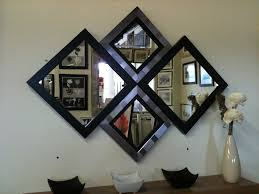 black modern mirror modern console table and mirror set in black