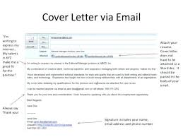 Cover Letter Email Attachment Email Cover Letter Attachment Cover