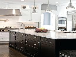 Dark Cabinets White Countertops Image Of Dark Kitchen Cabinets With
