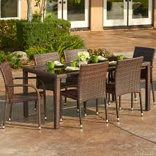Outdoor wicker dining sets Outside Dining Piece Outdoor Wicker Dining Set Wayfair Unlimited Piece Outdoor Wicker Dining Set Wayfair