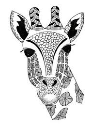 If you want to created your own zentangles, it's very easy ! Zentangle Giraffe Printable Coloring Page Allfreepapercrafts Com