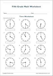 Telling The Time Worksheet Free Printable Worksheets Made By Esl ...