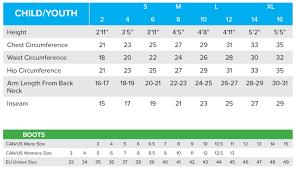 Fxr Size Chart Morefreakinpower