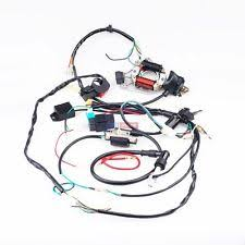 110cc atv parts full electrics wiring harness coil cdi stator ignition for 50cc 110cc atv bike