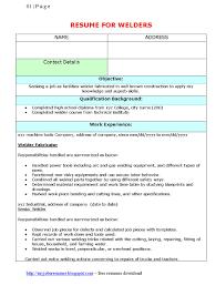 Pipe Welder Resume Resume Sample