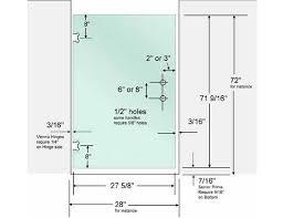 showercutoutdimensions shower doors