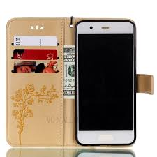 huawei cell phone cases. imprinted roses leather card holder stand cell phone case for huawei p10 - gold-1 cases 2