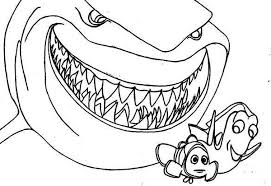 Small Picture Free Coloring Pages Of Finding Nemo Shark 9361 Bestofcoloringcom