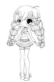Manga Coloring Pages Chibi Coloringstar