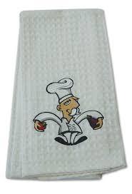 waffle weave fleur de chef kitchen towel