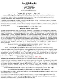 ... Hollander Resume International Strategic Sourcing Supplier Develop and Resume  Sample Portfolio Manager Resu ...