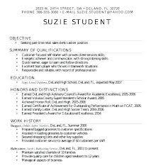 Graduate Resume Format High School Resume Format Simple Student