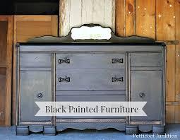 black painted furnitureBeyond Paint Black Furniture Project