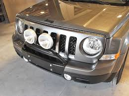 stage 1 per kit light bar bash plate no winch opening jeep patriotled