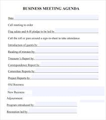 Free Agenda Templates For Meetings Interesting 48 Business Meeting Agenda Templates Free Samples Examples