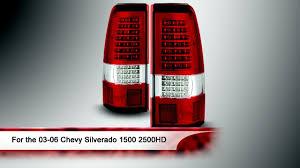 03-06 Chevy Silverado 1500 2500HD C Shape LED Tail Lights - YouTube