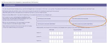 Delegate IB Form Trusts Screenshot