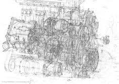 ferrari engine drawing drawings engine ferrari f combustion engine technical illustrations contour drawing industrial design technical drawing porsche concept art exploded view automotive art