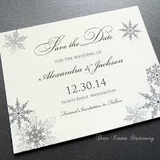 Christmas Wedding Save The Date Cards Lacy Snowflake Winter Wedding Invitation December January Weddings