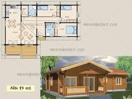 modèles de maisons en bois de moins de 100 m2