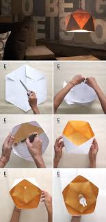 Create Your Own Modern Geometric Paper Lampshade With This Diy Diy