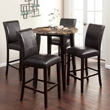 pretty bar height round table 25 pub dining counter ikea circle wooden with four black seat chairs legs glass window and wall tile floor large