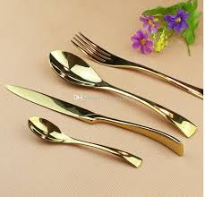 Perfect Titanium Gold Stainless Steel Dinnerware Sets Tableware Knife Fork Teaspoon Luxury  Cutlery Set Tableware Set .. Titanium Gold Knife Fork Stainless Steel ...