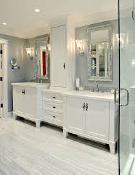 traditional white bathroom designs. Traditional White Bathroom Ideas With Silver Mirrors Glass Shower Enclosure Designs