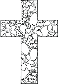 Free Printable Easter Cross Coloring Pages Johnrozumartcom