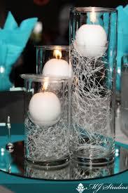 ... Impressive Blue And Silver Wedding Centerpieces Blue Silver White  Candles Mesmerizing Silver Wedding Centerpieces ...