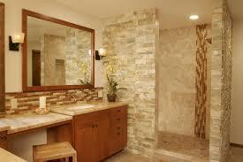 Glass Tile Backsplash In Bathroom #4029