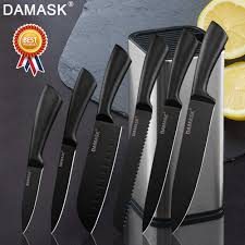 <b>Damask</b> Kitchen <b>Knives</b> Set Japanese Chef <b>Stainless Steel</b> Kitchen ...