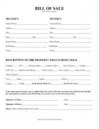 Sample Motorcycle Bill Of Sale Printable Sample Printable Bill Of Sale For Travel Trailer Form 5