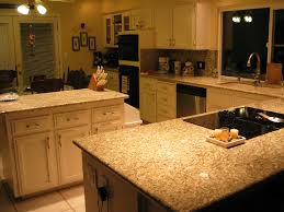 Kashmir Gold Granite Kitchen White Kitchen Cabinets With Gold Granite