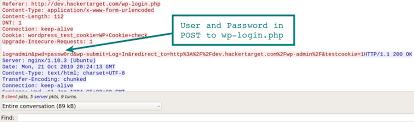 ing wordpress hackertarget