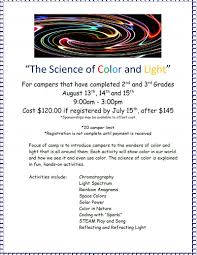 Spectrum Of Light Song The Science Of Color And Light Camp At The Challenger