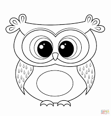 Shining Design Owl Coloring Pages For Kids Cute Halloween Collection