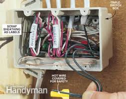 how to rough in electrical wiring the family handyman photo 12 push the wires into the box