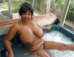 Naked big breasted black woman