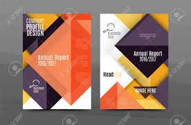 Annual Report Cover Template Squares And Triangles Annual Report Cover Template Color Business 6
