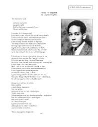 its not easy to know what is true for you or me theme for english  langston hughes essays 7 steps to writing theme for english b essay