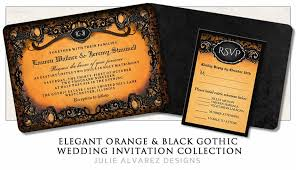 halloween wedding invitations julie alvarez designs Gothic Wedding Invitations Templates elegant gothic orange & black halloween wedding invitation template gothic wedding invitations templates