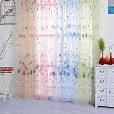 Tulpe Printed Tüll Fenster Vorhänge Für Schlafzimmer Wohnzimmer