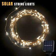 BetterHome 120 LEDs Outdoor Solar Powered LED String Lights 19ft