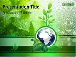 Download Globe On The Green Background With Plant And Leaves